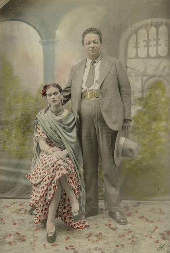 Wedding Portrait Of Frida Kahlo And Diego Rivera Frida