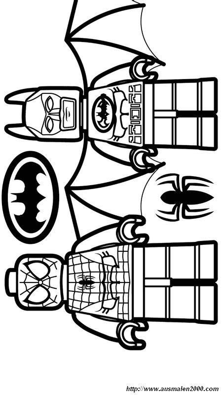 ausmalbilder spiderman bild lego spidermand und batman