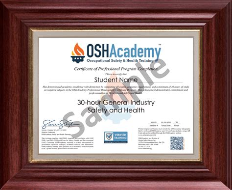 oshacademy  hour general industry safety  health
