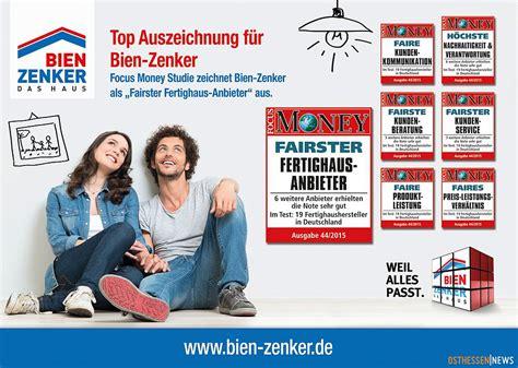 Bien Zenker Schlüchtern by Bien Zenker Ist Quot Fairster Fertighaus Anbieter Quot In Focus