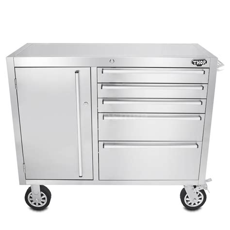 Stainless Steel Rolling Cabinet by Garage Rolling Stainless Steel Tool Box Storage Cabinet
