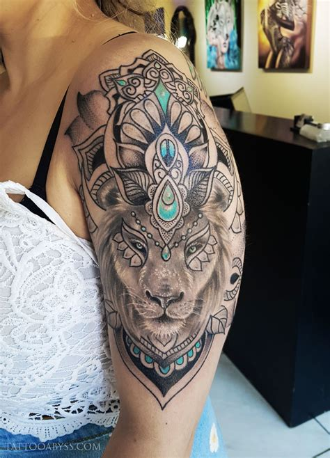 lion mandala tattoo abyss