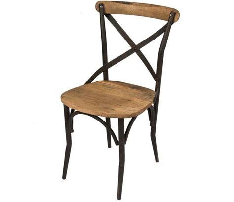 chaise industriel lot 2 chaises style industriel bois et fer dallas