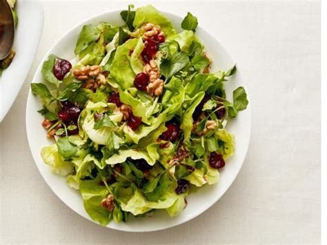 green kitchen recipes green salad with cranberry vinaigrette recipe food 1426
