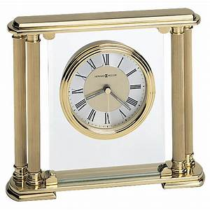Howard, Miller, Athens, Solid, Brass, Table, Clock, 613627