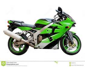 Green and White Motorcycle