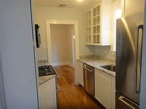 small white galley kitchen | Pine Street | Pinterest