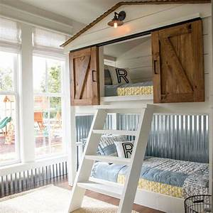 this custom built bunk bed for the matsumoto house was With barn door loft bed