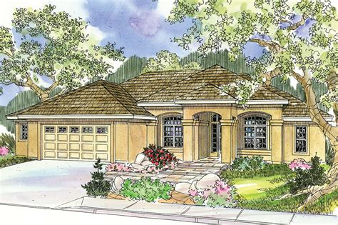 Mediterranean House Plans  Mendocino 30681  Associated