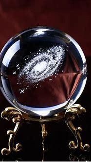 3D Milky Way Galaxy Crystal Ball   StylishGram