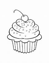 Coloring Pages Desserts Dessert sketch template
