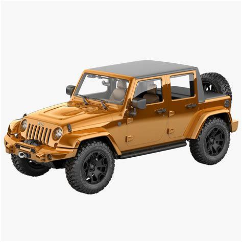 jeep moab truck 3d model jeep wrangler moab half
