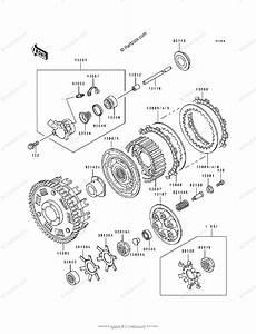 Kawasaki Motorcycle 1993 Oem Parts Diagram For Clutch