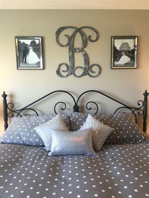 idea    bed  master bedroom monogram