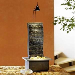 Tischbrunnen Mit Beleuchtung : zimmerbrunnen wasserfall mit beleuchtung kaito ~ Orissabook.com Haus und Dekorationen
