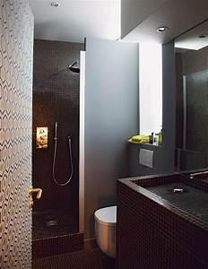 une salle de bain minuscule et ultra chic salle de bain With minuscule salle de bain