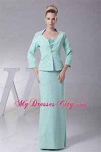apple green satin and chiffon mother of the bride dress With mother in law dresses for wedding
