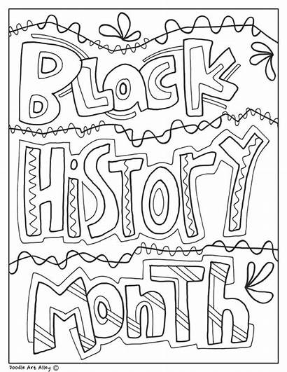Coloring Month History Printables Doodles Printable Doodle