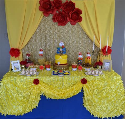 E Hanted Beauty And The Beast Birthday Party Pretty