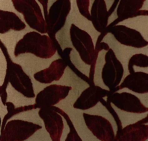Velvet Fabric For Upholstery by Drapery Upholstery Fabric Cut Velvet Leaves On Barkcloth