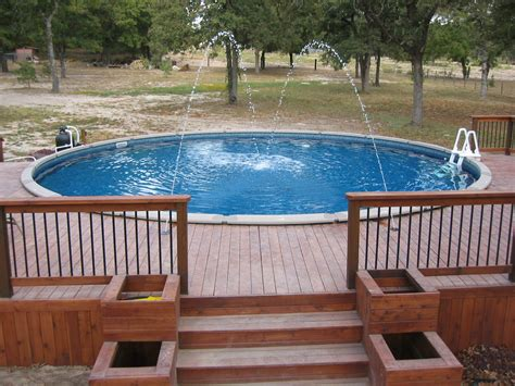 above ground pool steps for decks above ground pool stairs deck how to construct above