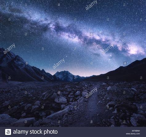 Himalayas Night Sky Stock Photos