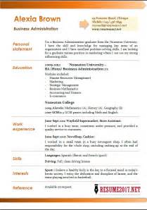 business resume template 2017 business administration resume exles 2017