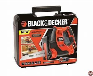 Scie Sabre Black Et Decker : nouvelle scie scorpion rs890k black decker zone outillage ~ Dailycaller-alerts.com Idées de Décoration