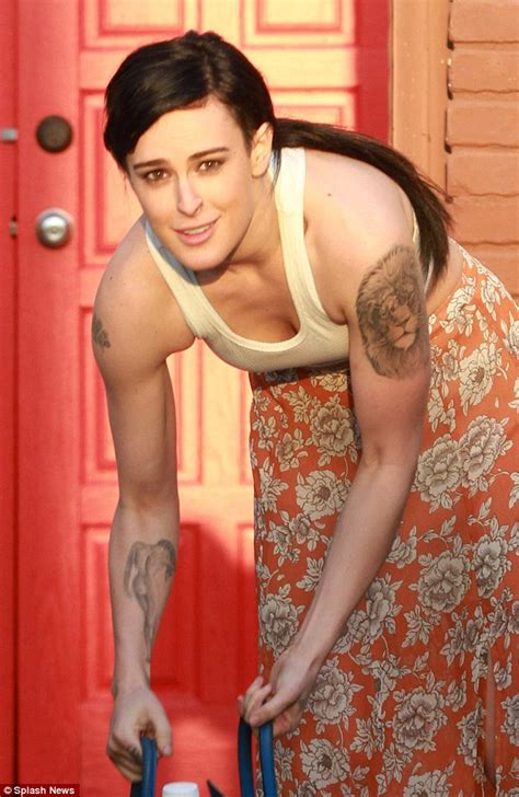 Rumer Willis arrives at Dancing With the Stars rehearsals
