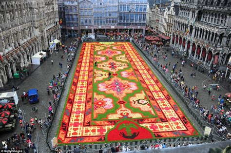carpet  flowers  brussels central square  country