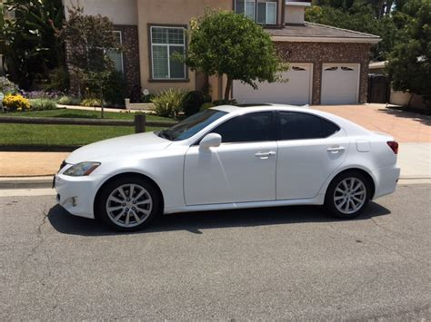 white lexus is 250 ca fs 2008 lexus is250 pearl white in southern california