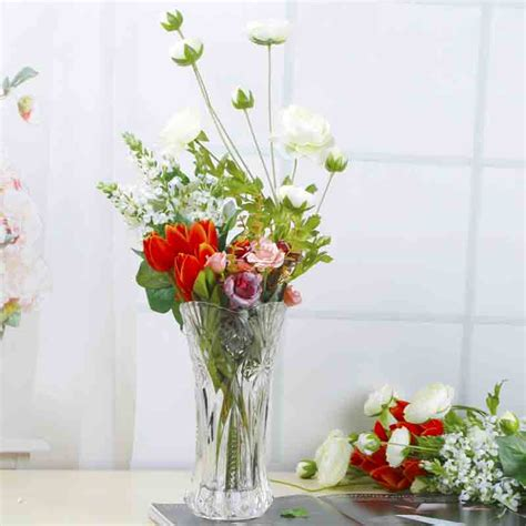 home decor small clear glass vases wholesale