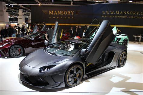 mansory turns  stealth  aventador based carbonado