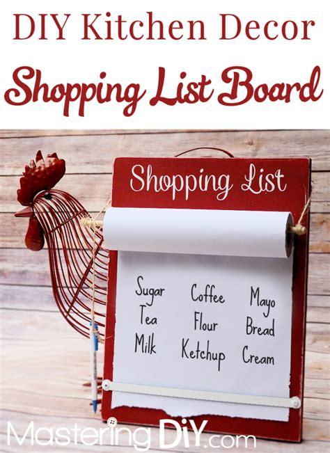 list of kitchen accessories kitchen decor ideas diy shopping list board homemaking 7131