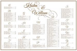 Wedding Table Seating Chart Template