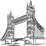 London Coloring Bridge Tower Printable Getcolorings Lond Colorings sketch template