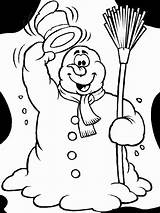 Coloring Funny Snowman Pages Winter Says Hello Christmas Colouring Sheets Fun Snowmen Printable Adult Books Play Penguin Kidsplaycolor Easy sketch template