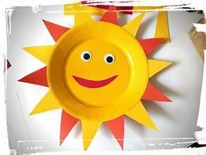 Activité Manuelle été : activit manuelle t soleil assiette en carton youtube ~ Melissatoandfro.com Idées de Décoration