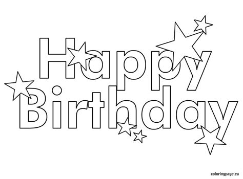 Happy Birthday Coloring Pages Coloring Kids 4734