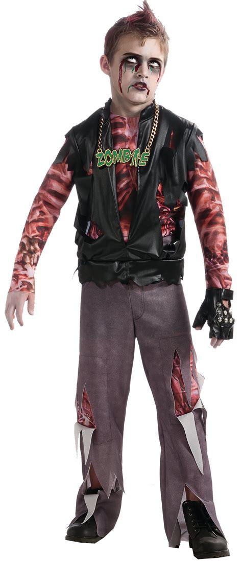 boys zombie punk rocker kids costume  costumes