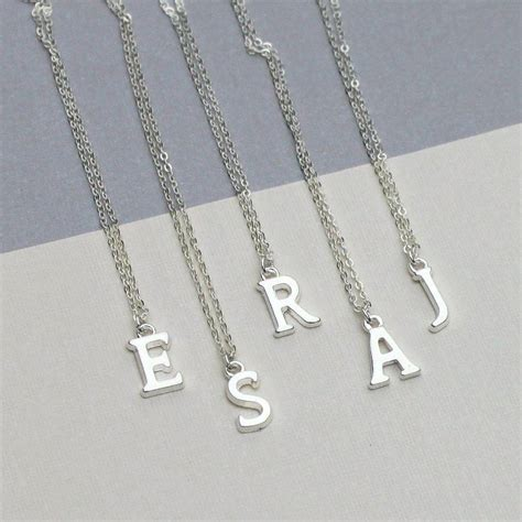 Initial Letter Charm Necklace By Completely Charmed ...