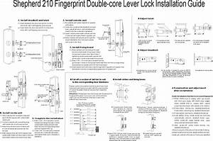 Biometric Fingerprint With Deadbolt And Latch Lock Dl210at