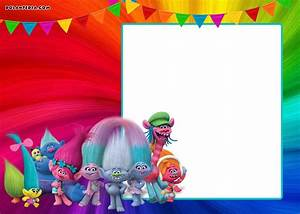 Under The Sea Birthday Party Invitations Free Printable Free Printable Trolls Invitation Template Dolanpedia