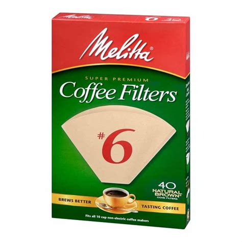 Metal coffee filters are made out of a fine metal mesh and have a hard plastic frame. Melitta Coffee Filters - No.6 - Natural Brown - 40s | London Drugs