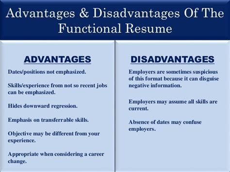 Chronological Resume Advantages And Disadvantages by Resume Presentation