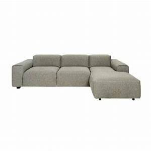 posada canape 3 places avec meridienne droite en tissu With canapé 3 places méridienne