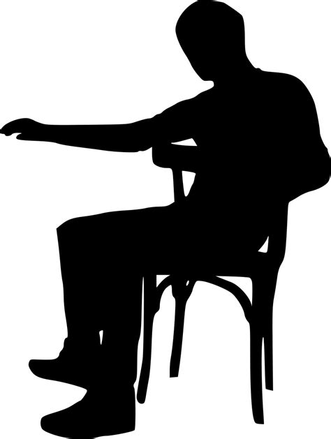 Sitting Chairs by 15 Sitting In Chair Silhouette Png Transparent Onlygfx