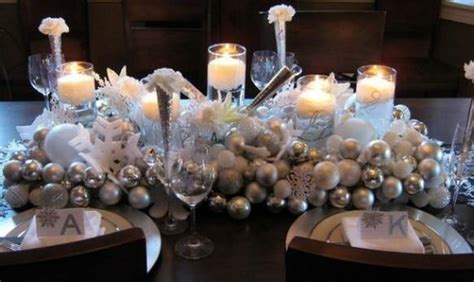 year christmas table decorations winter wedding