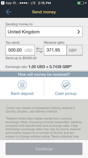 western union mobile western union mobile app review fxcompared