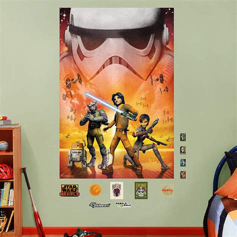 fathead wars rebels mural